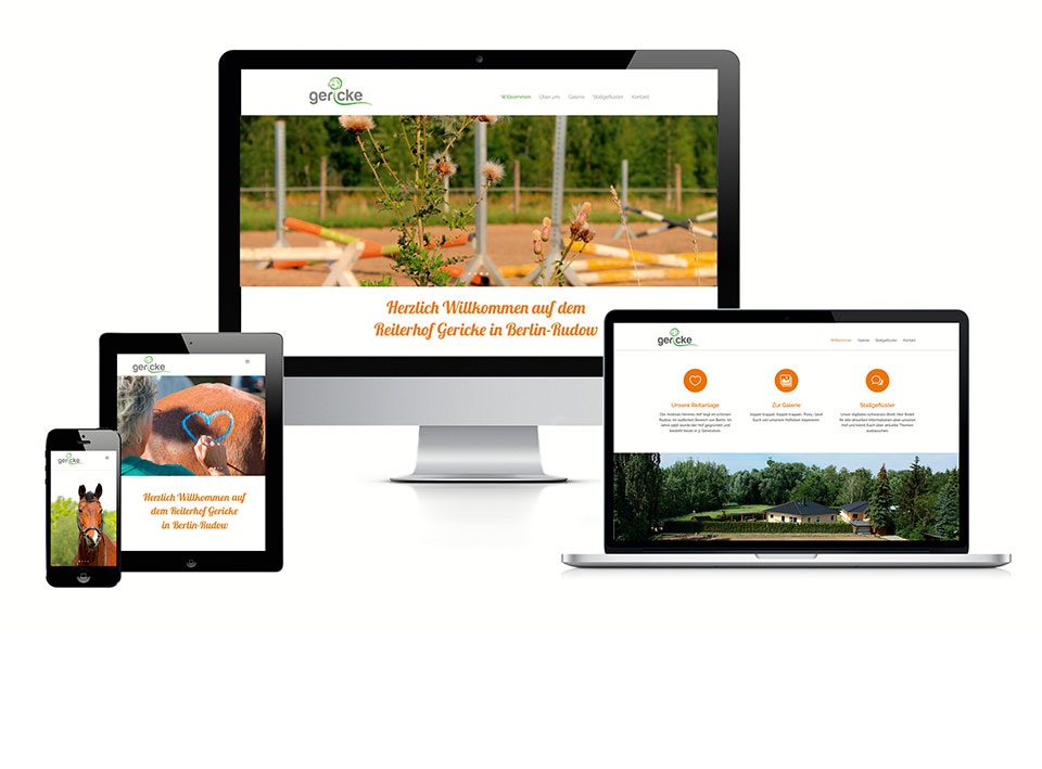 Gericke Pferdepension – Website