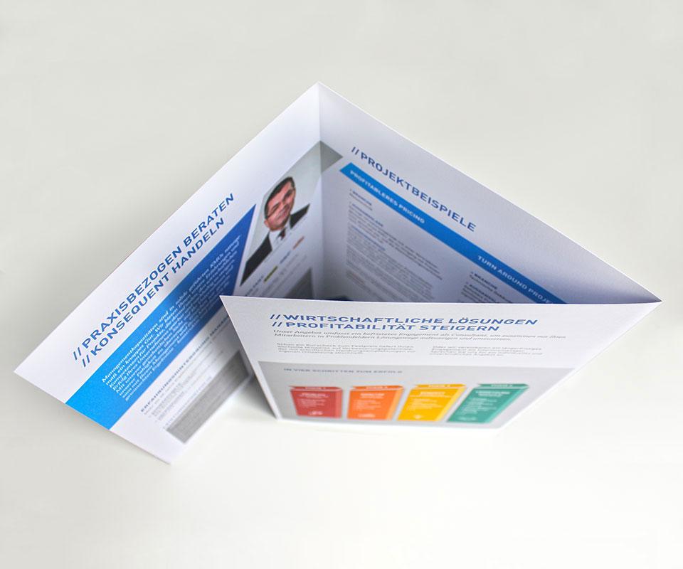 CI für Unternehmensberater Nico Pohlmann – Imageflyer
