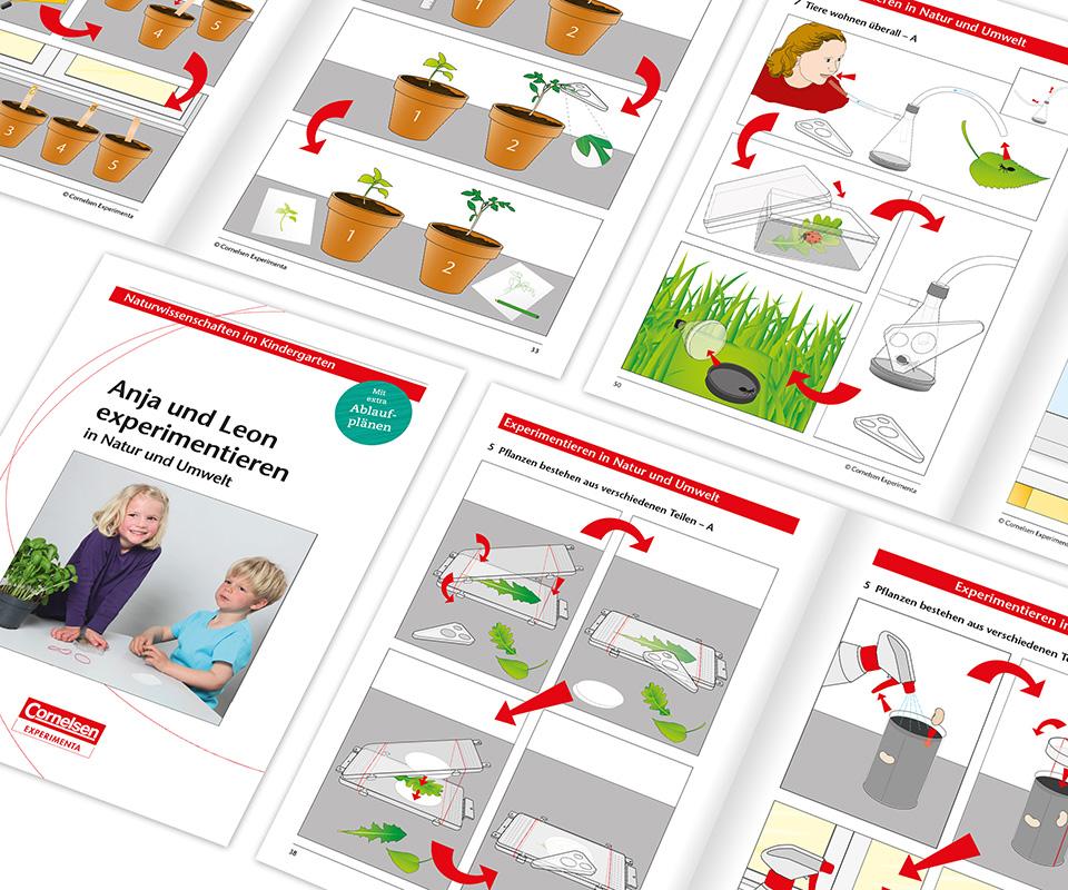 Illustrationen für die Kindergarten Reihe: Experimentieren in Natur und Umwelt, Cornelsen